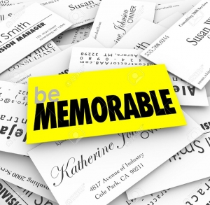 Business cards- be memorable